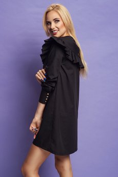 Project MESS - Sukienka Frill Lady Black