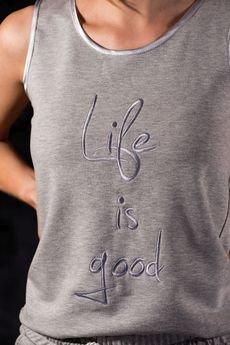 "Fevey - Bokserka Grey ""Life Is Good"""