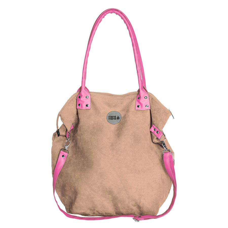 79ebb60a4b601 Torba Worek Beige  Pink - Beżowy