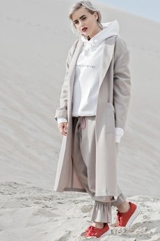 REST_FActory - Dark beige longline coat