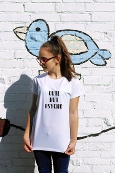FUNfara - T-shirt CUTE BUT PSYCHO