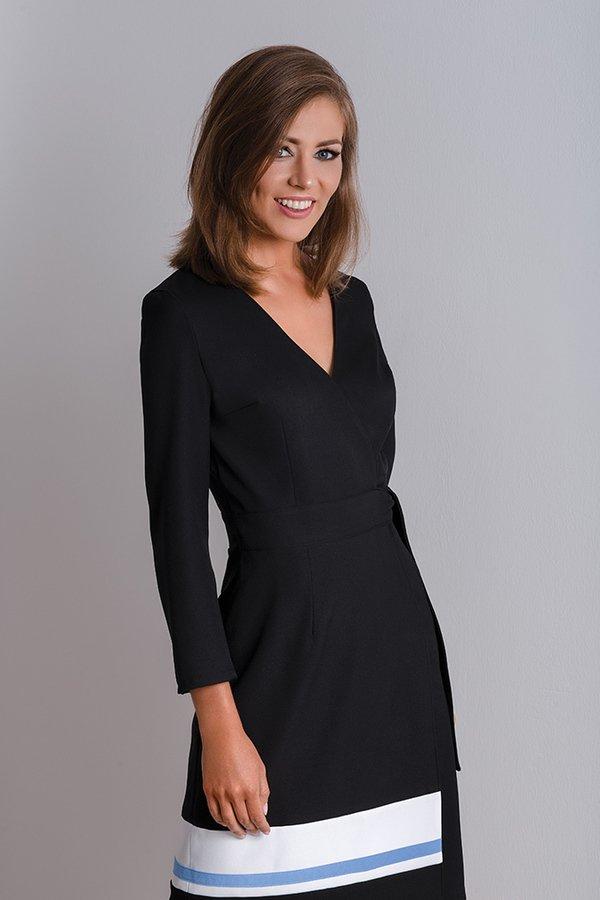 8cad1888ae Klasyczna Czarna Sukienka Wizytowa Cala - Czarny
