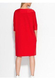 Sukienkamilo prosta czerwona