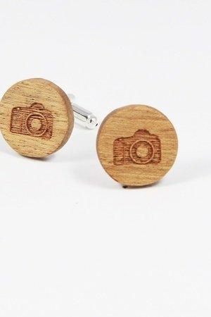 Drewniane spinki do mankietów #23 - 69277