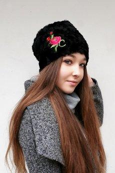 CHAPOOSIE - Czapka CHAPOOSIE BlackFur & Rose