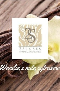 2 senses by Marta Rynkiewicz - Świeca 2 senses  Wanilia z nutą cytrusową
