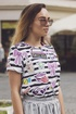 T shirt striped stickers