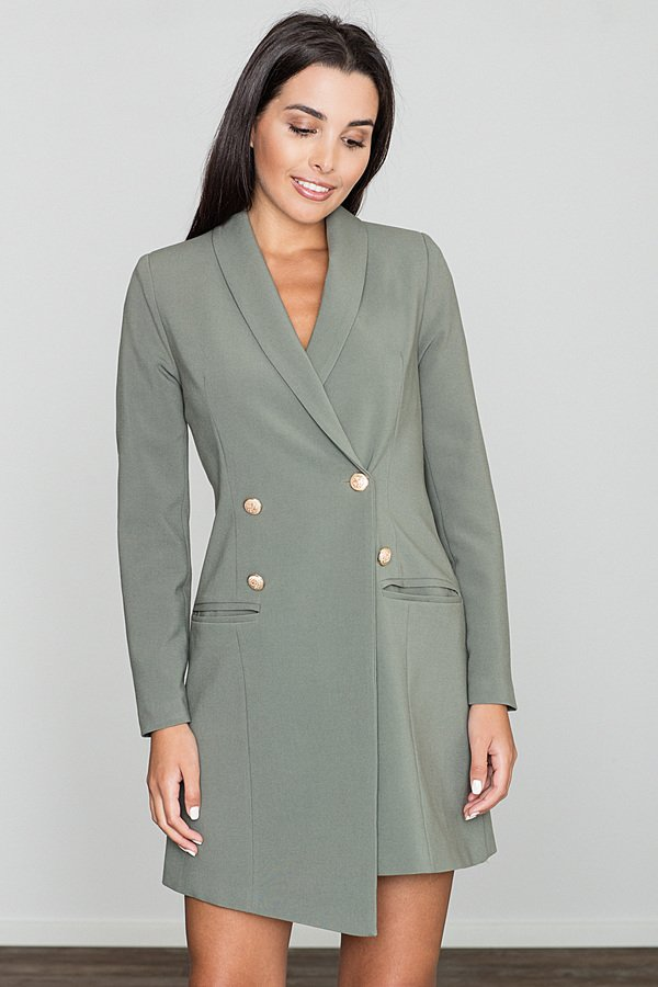 3b22561214 Sukienka M447 Oliwka - Zielony