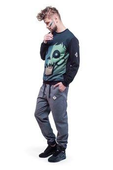 OKUAKU - Crystal Skull Sweatshirt (Green)