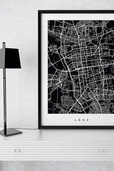 goorska - ŁÓDŹ - plakat z planem miasta