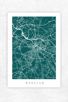 goorska - WROCŁAW - plakat z planem miasta
