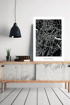 goorska - POZNAŃ - plakat z planem miasta
