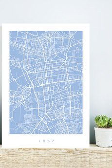 goorska - DOWOLNE MIASTO - plakat z planem miasta