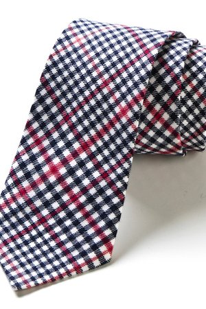 Krawat męski w kratkę UBEDA