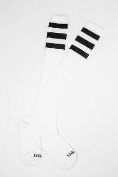 UGLY - Kolanówki UGLY Białe/czarne paski