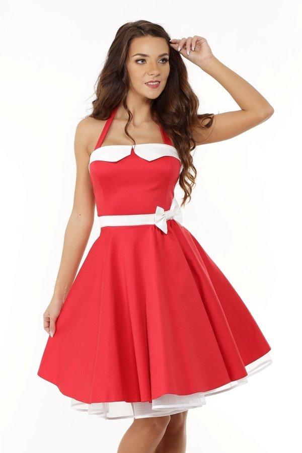 c8eccf3bd0 Sukienka Rozkloszowana Pin Up Ed01-8 - Czerwony