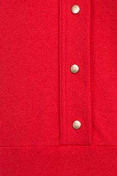 Bien Fashion - Czerwona sukienka z kołnierzykiem