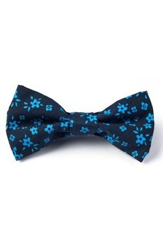 Mucha bawelniana gotowa blue flowers