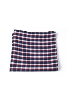r3s men's accessories - POSZETKA BAWEŁNIANA WHITE PLAID