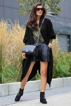 - Długi Sweter Płaszcz