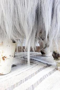 Herd - Pufa ze skóry owczej i drzewa brzozy