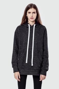 MALE-ME - Bluza bawełniana z kapturem Basic Grey Melange