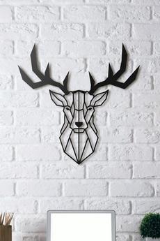 Metalowy jelen geometryczny