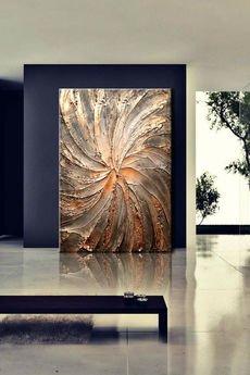 artandtexture - Obraz ręcznie malowany z rzeżbą 120x170cm