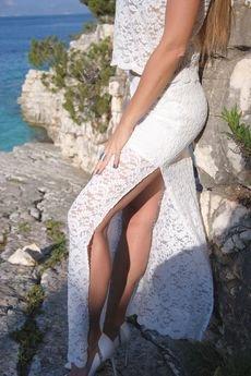 WOW - Długa czarna koronkowa spódnica Long Legs