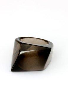 Brazi Druse Jewelry - InspiRING Kwarc Dymny rozmiar 18