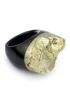 Brazi Druse Jewelry - InspiRING Piryt na Agacie rozmiar 25