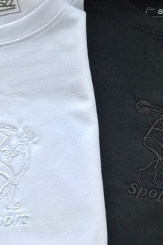 MSZZ - SPORT EMBRIODERED TEE White