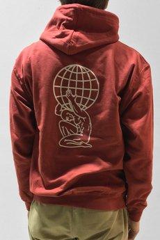 Atlas deep red hoodie