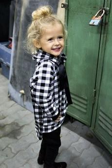 Mizerki kids - Bluza w czarno białą kratę