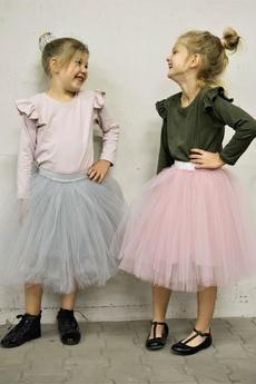 Mizerki kids - Bluzka z falbankami khaki