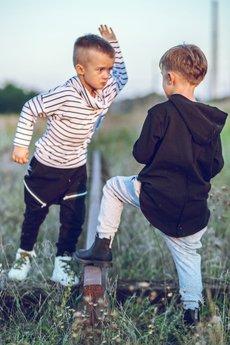 Mizerki kids - spodnie czarne z suwakami