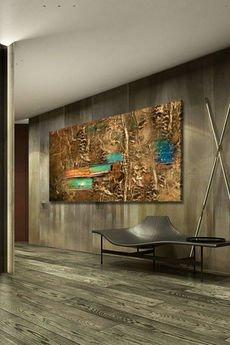artandtexture - Obraz ręcznie malowany z rzeżbą 100x180cm