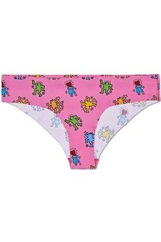 HAPPY SOCKS - Bielizna damska Happy Socks x Keith Haring (2-pak) Cheeky XKEH97-3000