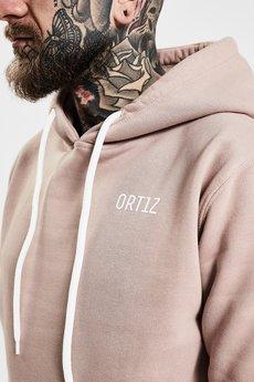 ORTIZ - Różowa bluza męska z kapturem Pink Salt - Ortiz Outfit