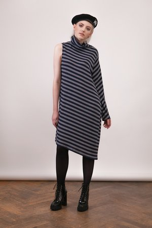Sukienka One Sleeve Stripes