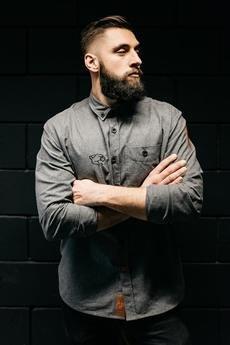 The Urban Beard - Flanela szara