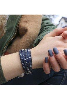 Bransoletka blue leather
