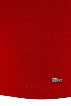 Czerwona spodnica olowkowa basic bawelna