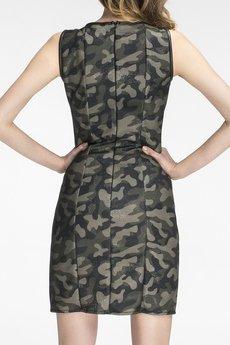 Soleil - Sukienka w kolorze moro z krótkim zamkiem SL2136