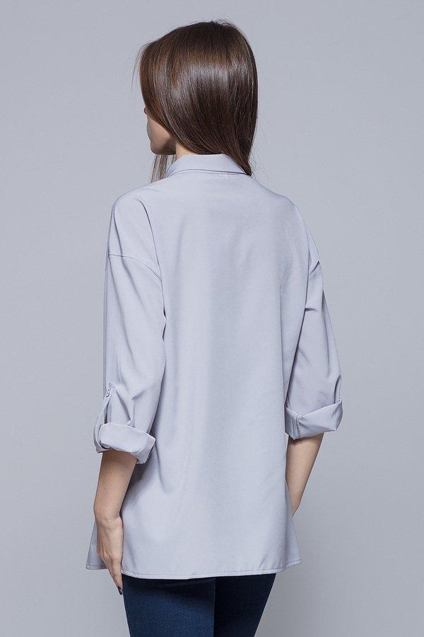 Luźna koszula oversize ecru H010