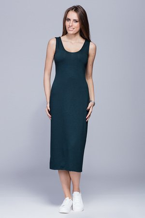 Dopasowana sukienka-zielona.H026