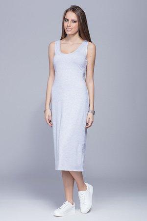 Dopasowana sukienka-szara.H026
