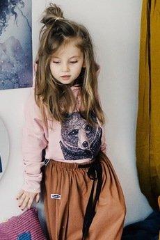 Mizerki kids - Bluza never give up Pudrowy róż