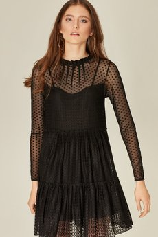 chilliwine - Sukienka Lia koronkowa czarna