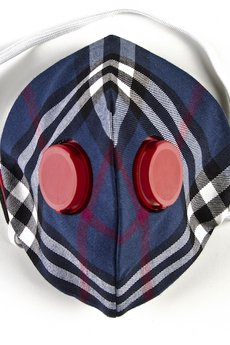 HisOutfit - Maska antysmogowa z węglem aktywnym PINTO BLUE + 1 filtr